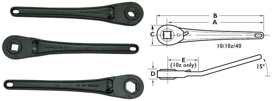 Model_15_ratchet_arms_with_line_drawing