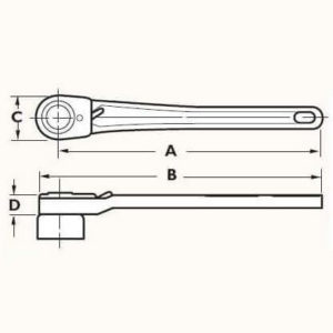 Model 50 Socket Wrench Dimensions