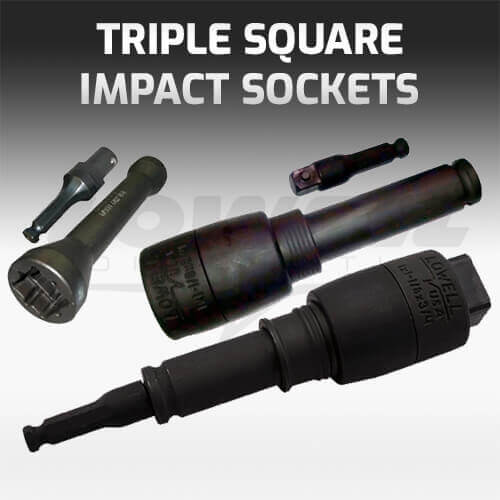 Triple Square Impact Socket Wrench